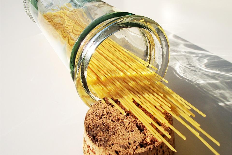 Spaghetti qui contiennent du gluten
